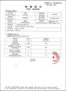 Certificaat voor A193 B8M CL2