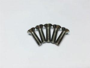 M3, M6 titanium schroef platte kop titanium flensschroeven voor spinale chirurgie