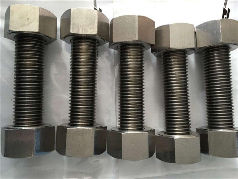 nikkellegering 400 en2.4360 volledig draadstang met moerenbevestiging