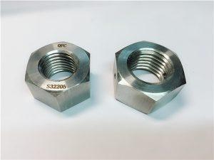 Nr.76 Duplex 2205 F53 1.4410 S32750 roestvrijstalen bevestigingsmiddelen zware zeskantmoer