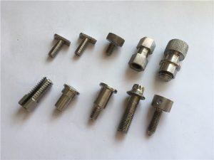 op maat gemaakte hoge precisie niet-standaard schroef, roestvrijstalen cnc-bewerkingsschroef