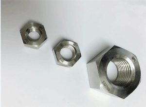 Duplex 2205 / F55 / 1.4501 / S32760 roestvrijstalen bevestigingsmiddelen zware zeskantmoer M20